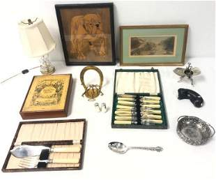 ASSORTED DEALERS LOT: PUZZLE, STERLING, ETC.