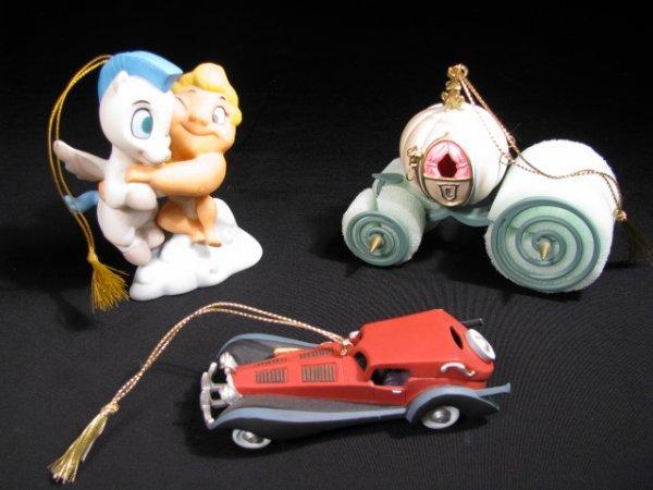 18: WDCC  ORNAMENTS CARRIAGE CAR HERCULES 3 pcs