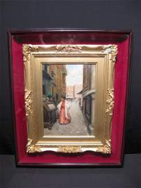 197: VINCENZO MIGLIARO (1858-1938) OIL PAINTING SIGNED