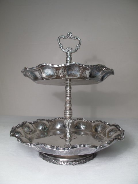 7: KIMBERLEY STERLING SILVER TIERED TRAY 65 TROY OZ