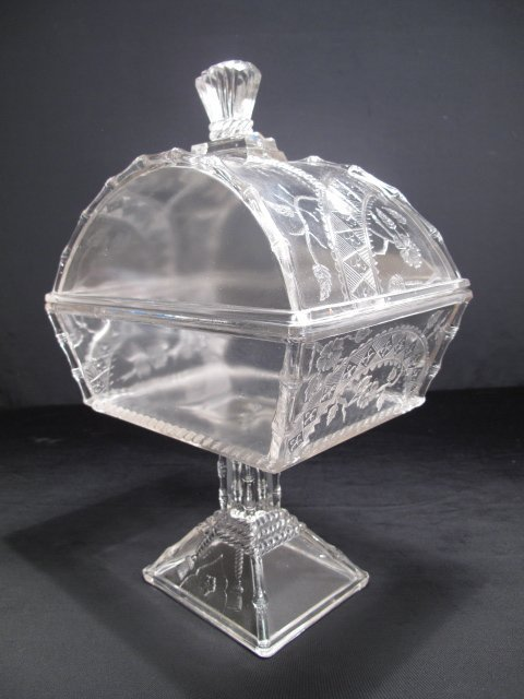 16: EARLY AMERICAN PATTERN GLASS EAPG COMPOTE