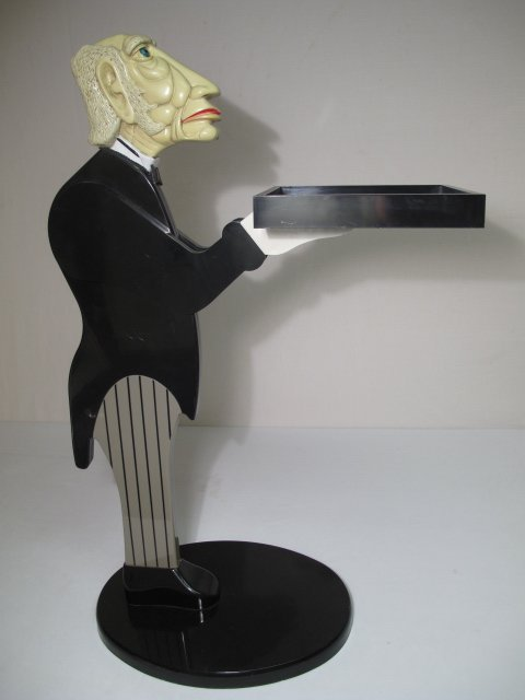 29: NOVELTY CONTEMPORARY SERVING BUTLER STAND LATE