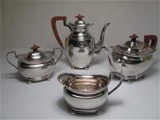ENGLISH STERLING SILVER COFFEE & TEA SET 62 TROY OZ