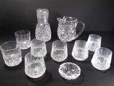 5 12 PIECES IRISH WATERFORD CUT CRYSTAL GLASS WARE