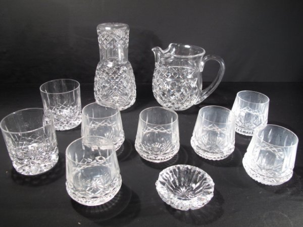 5: 12 PIECES IRISH WATERFORD CUT CRYSTAL GLASS WARE