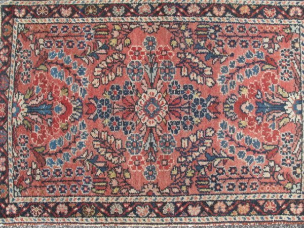 """8: VINTAGE HAND KNOTTED PERSIAN RUG C20TH 33"""" X 22"""""""