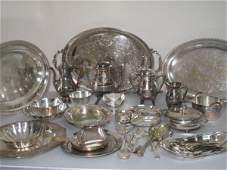9 OVER SIXTY PIECES OF SILVER PLATE SOME ANTIQUE