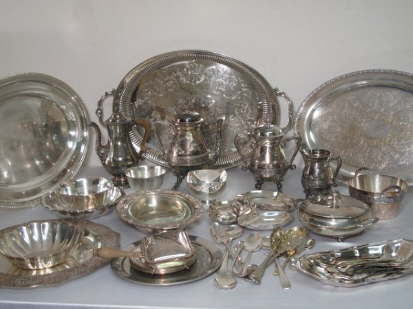 9: OVER SIXTY PIECES OF SILVER PLATE SOME ANTIQUE