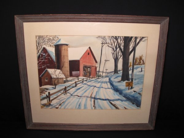 48: ORIGINAL WATER COLOR PAINTING SIGNED JOHN ROGERS - 9