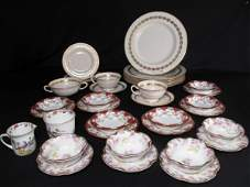407: GROUP OF LENNOX AND LIMOGES PORCELAIN 36 PIECES