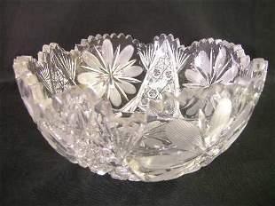 BRILLIANT CUT GLASS CRYSTAL FLORAL BOWL