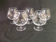 132 STEUBEN CRYSTAL LARGE BRANDY BALLOON WINE STEMS 5