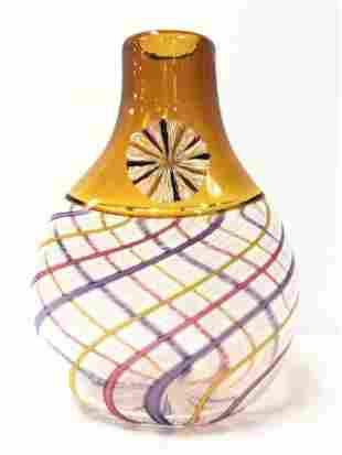 CMOG ART GLASS VASE: CARL SIGLIN