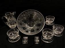 ASSORTED WATERFORD CUT CRYSTAL: 8 PCS