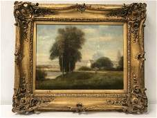 VINTAGE L. STEPANO OIL ON CANVAS PASTORAL PAINTING
