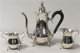 MUECK-CAREY CO STERLING SILVER THREE PIECE TEA SET