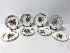 EIGHT FRENCH FAIENCE PLATES, LES ISLETTES, ETC.