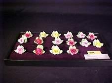 144 BONE CHINA FLOWER PLACE CARD HOLDERS 16
