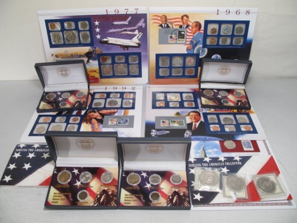 119: VARIOUS SETS OF AMERICAN COINS AND MEDALS KENNEDY