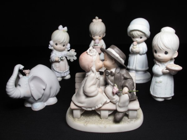 2: SIX PRECIOUS MOMENTS FIGURINES GIRLS ELEPHANT