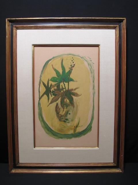 "18: GEORGES BRAQUE LITHOGRAPH IN COLORS ""LE LIERRE"""