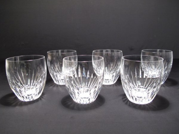 270: SIX BACCARAT FRANCE CLEAR CRYSTAL WHISKY TUMBLERS