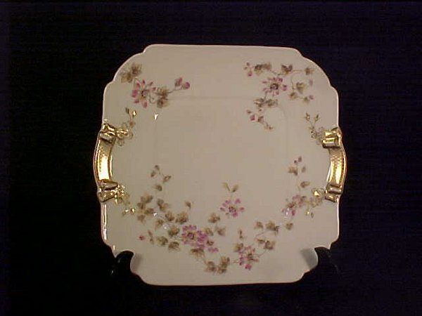 """394: SHEFFIELD GILT DECORATED FLORAL PLATE 9"""""""