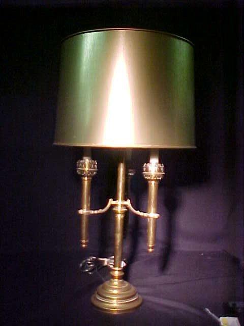 403: VINTAGE BRASS CANDLESTICK LAMP Measures