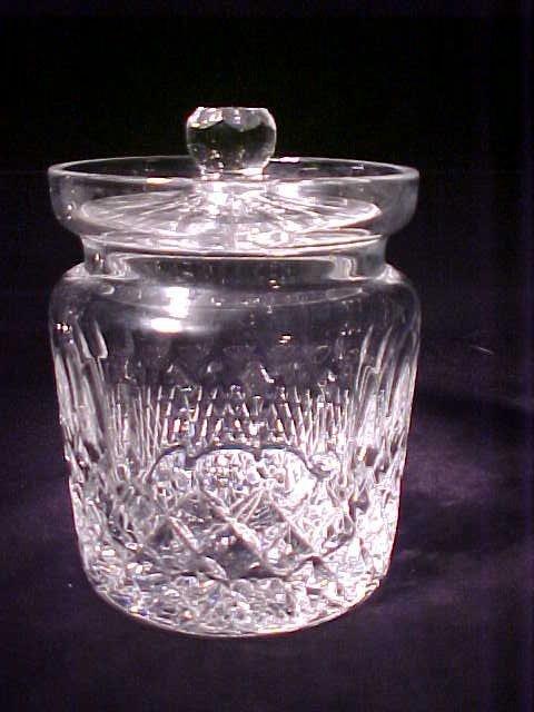 404: WATERFORD CRYSTAL BISCUIT BARREL Measure