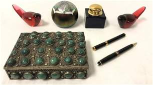 ASSORTED COLLECTIBLES: ABELMAN, BACCARAT, MONTBLAN
