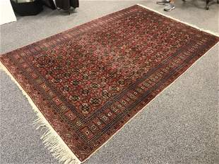"""VINTAGE TURKISH HAND KNOTTED WOOL RUG 6'6"""" x 9'8"""""""