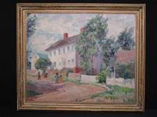 107: KATHERINE LOVELL (1877-1965) OIL PAINTING CHILDREN