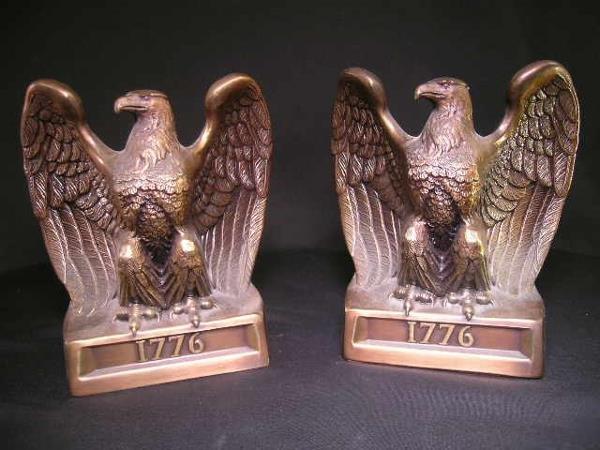 424: COPPER EAGLE BOOKENDS 1776 ON BASE PR