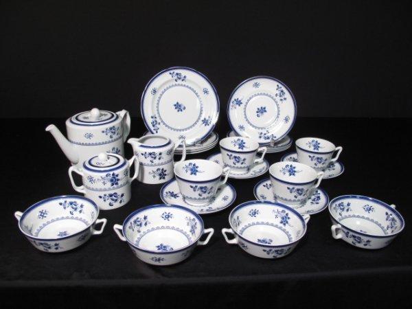 14: SPODE GLOUCESTER BLUE STONEWARE DINNERWARE 23pc