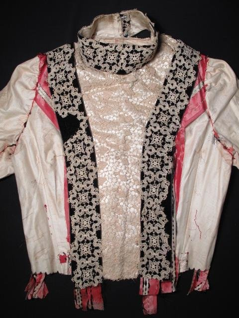 194: LATE 19TH CENTURY SILK AND LACE BODICE