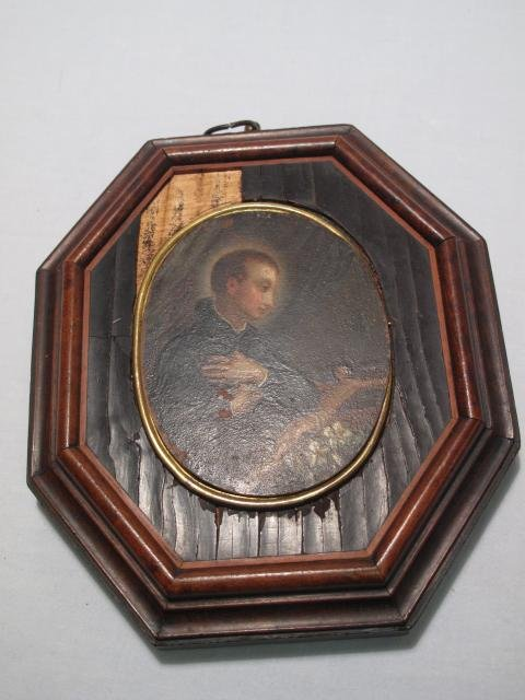 12: 18TH CENTURY OIL ON COPPER DEVOTIONAL PAINTING