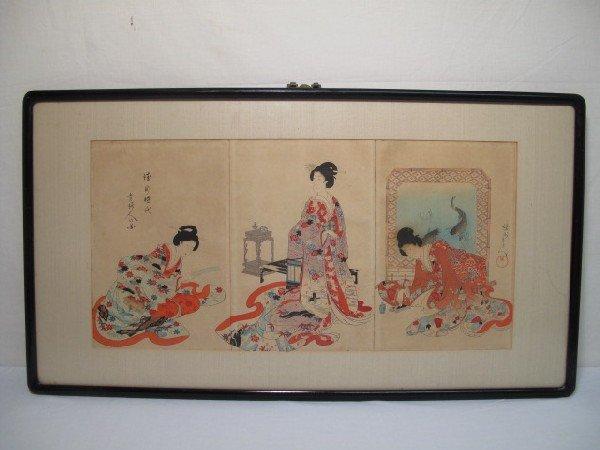 50: JAPANESE WOODBLOCK PRINT TRIPTYCH