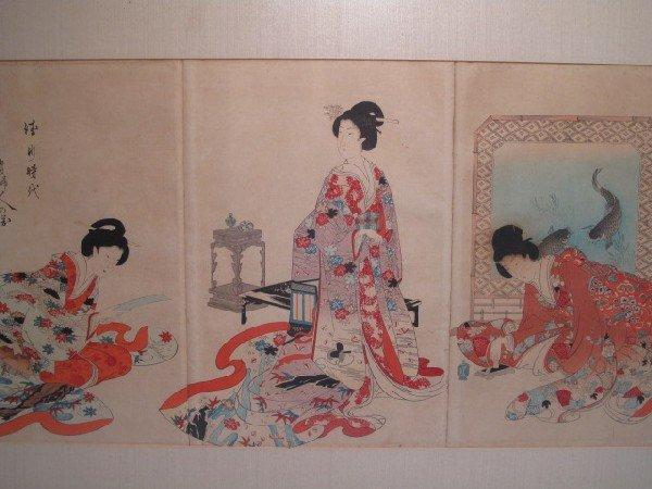 50: JAPANESE WOODBLOCK PRINT TRIPTYCH - 2
