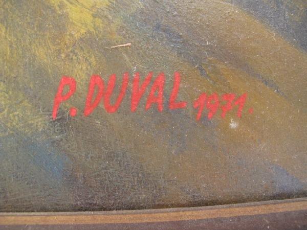94: P. DUVAL OIL ON BOARD PAINTING: BALLERINAS - 5