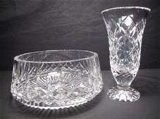 241 WATERFORD CRYSTAL VASE AND BOWL