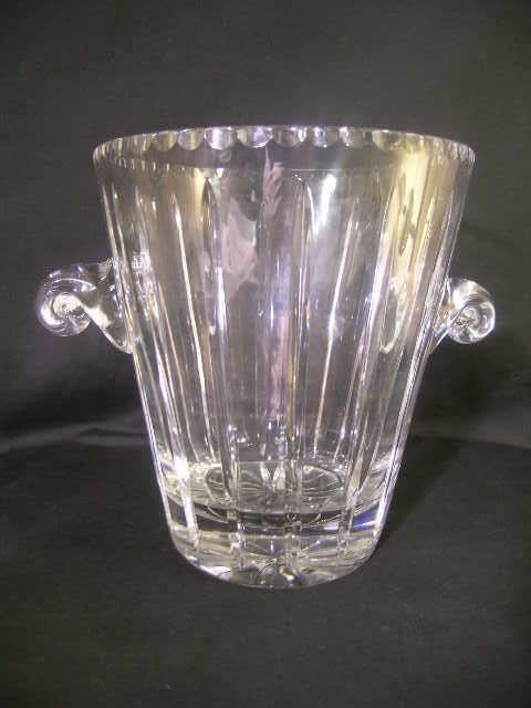 1: CUT GLASS CRYSTAL CHAMPAGNE BUCKET