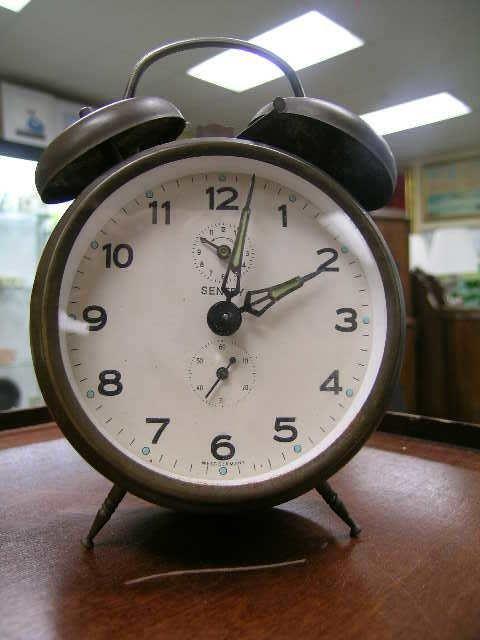 21: VINTAGE BRASS GERMAN TRAVEL CLOCK