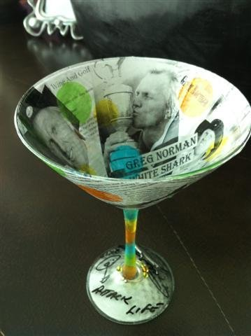 5: NIFF CELEBRITY MARTINI GLASS: GREG NORMAN