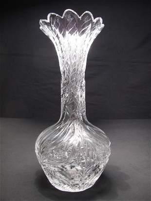 HAWKES GRAVIC CUT GLASS VASE