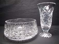 67 WATERFORD CRYSTAL VASE AND BOWL