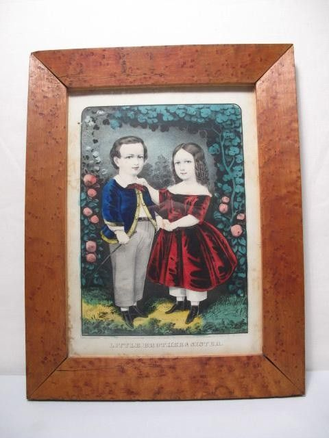 195: CURRIER & IVES: LITTLE BROTHER & SISTER