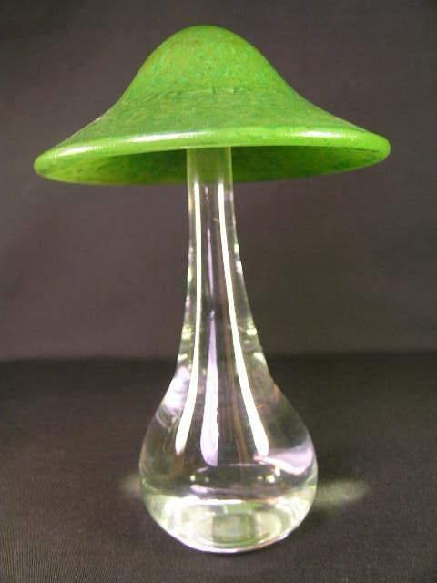 332: MURANO ART GLASS MUSHROOM PAPER WEIGHT