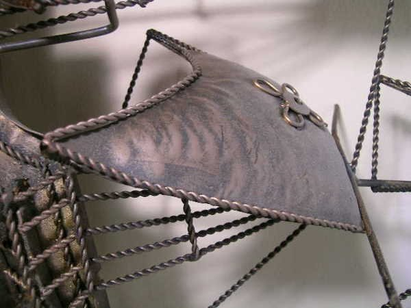 394: VINTAGE METAL WALL ART SAILING SHIP - 3
