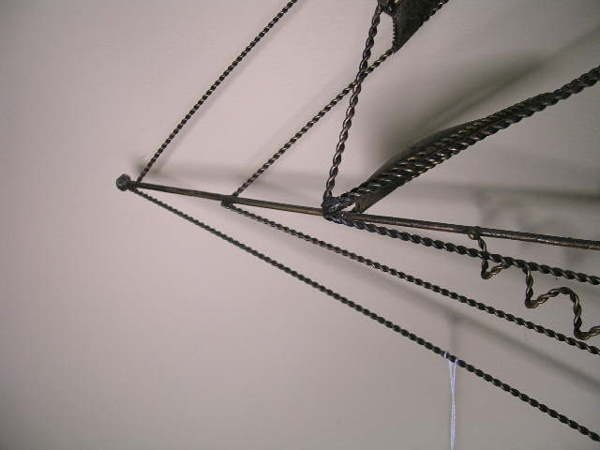394: VINTAGE METAL WALL ART SAILING SHIP - 6