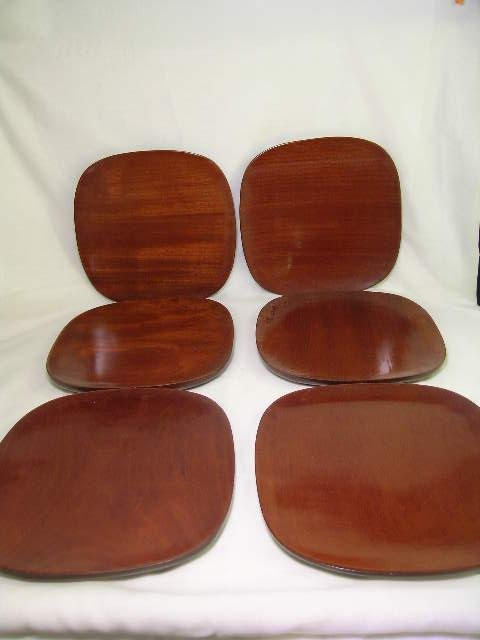 562: MONKEY POD WOOD HAITIAN WOOD PLATES 6 pc